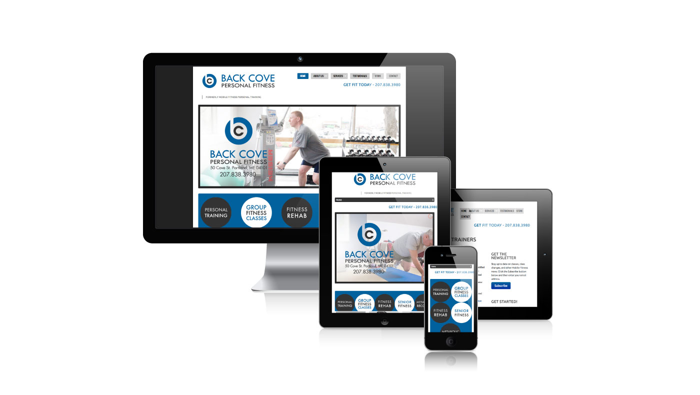 Back Cove Personal Fitness | WordPress Website Design