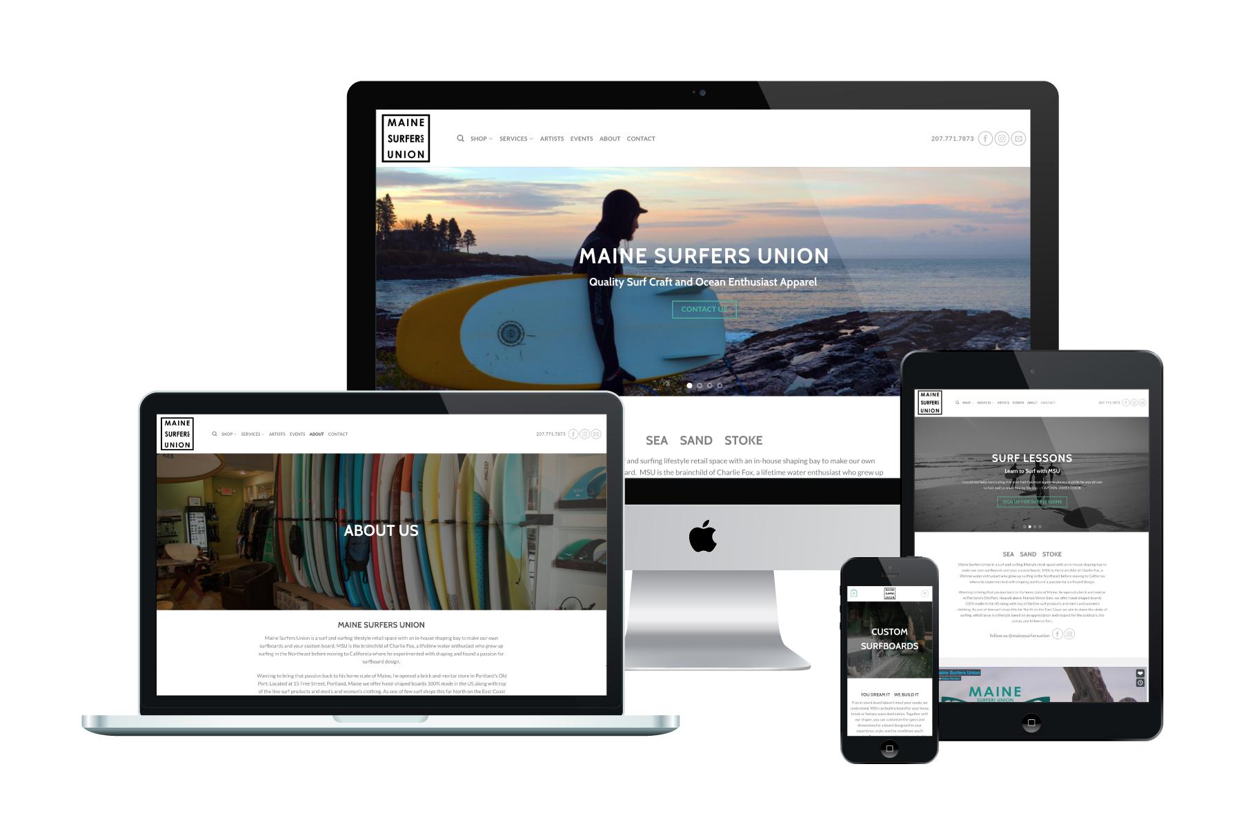 Maine Surfers Union | WordPress eCommerce Website Design