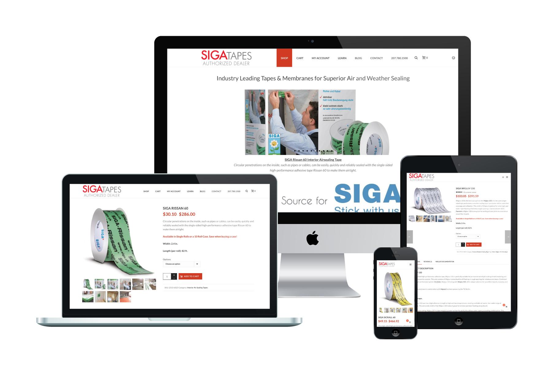 SIGATapes | WordPress eCommerce Website Design