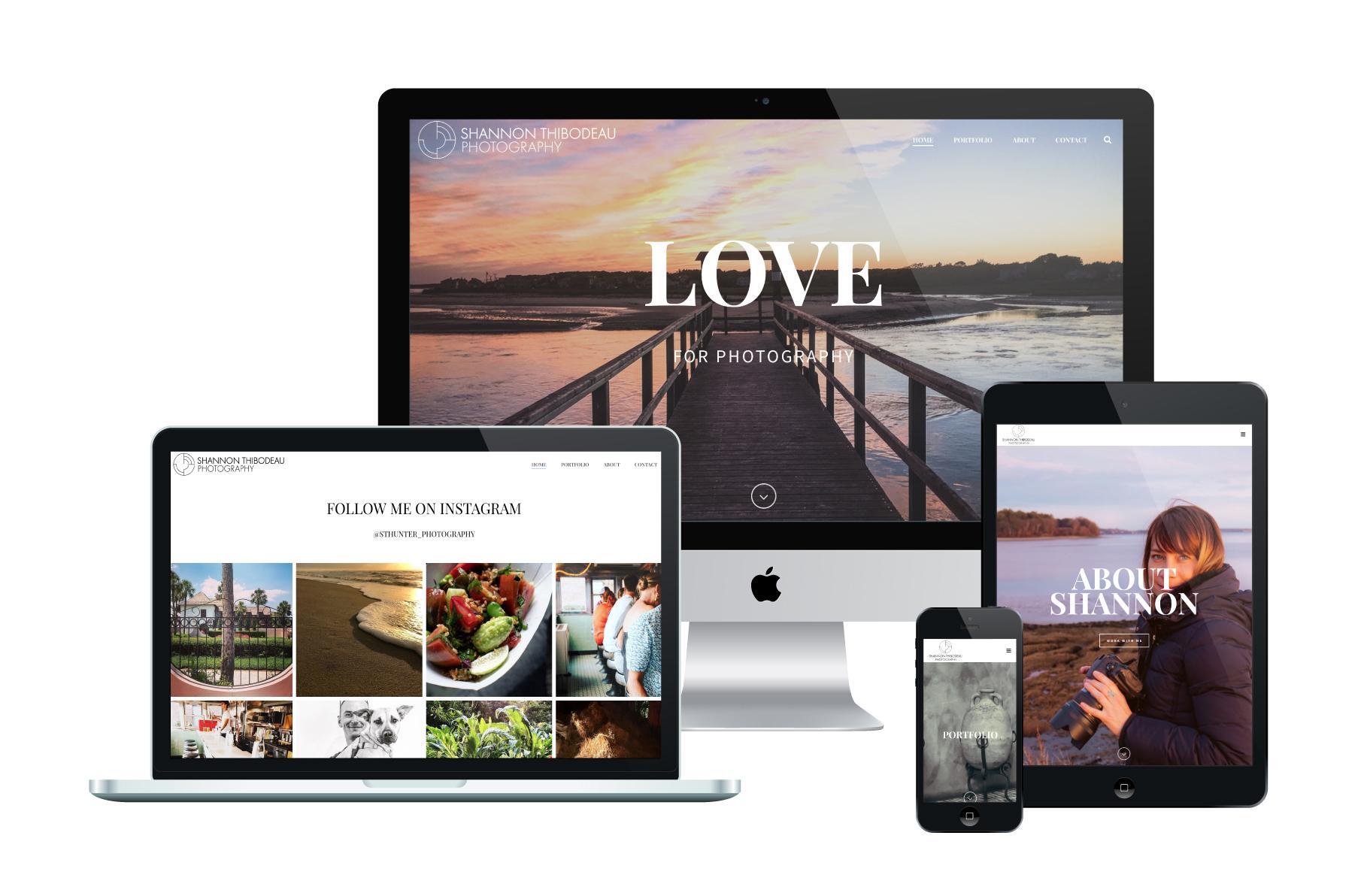 Shannon Thibodeau Photography | WordPress Website Design