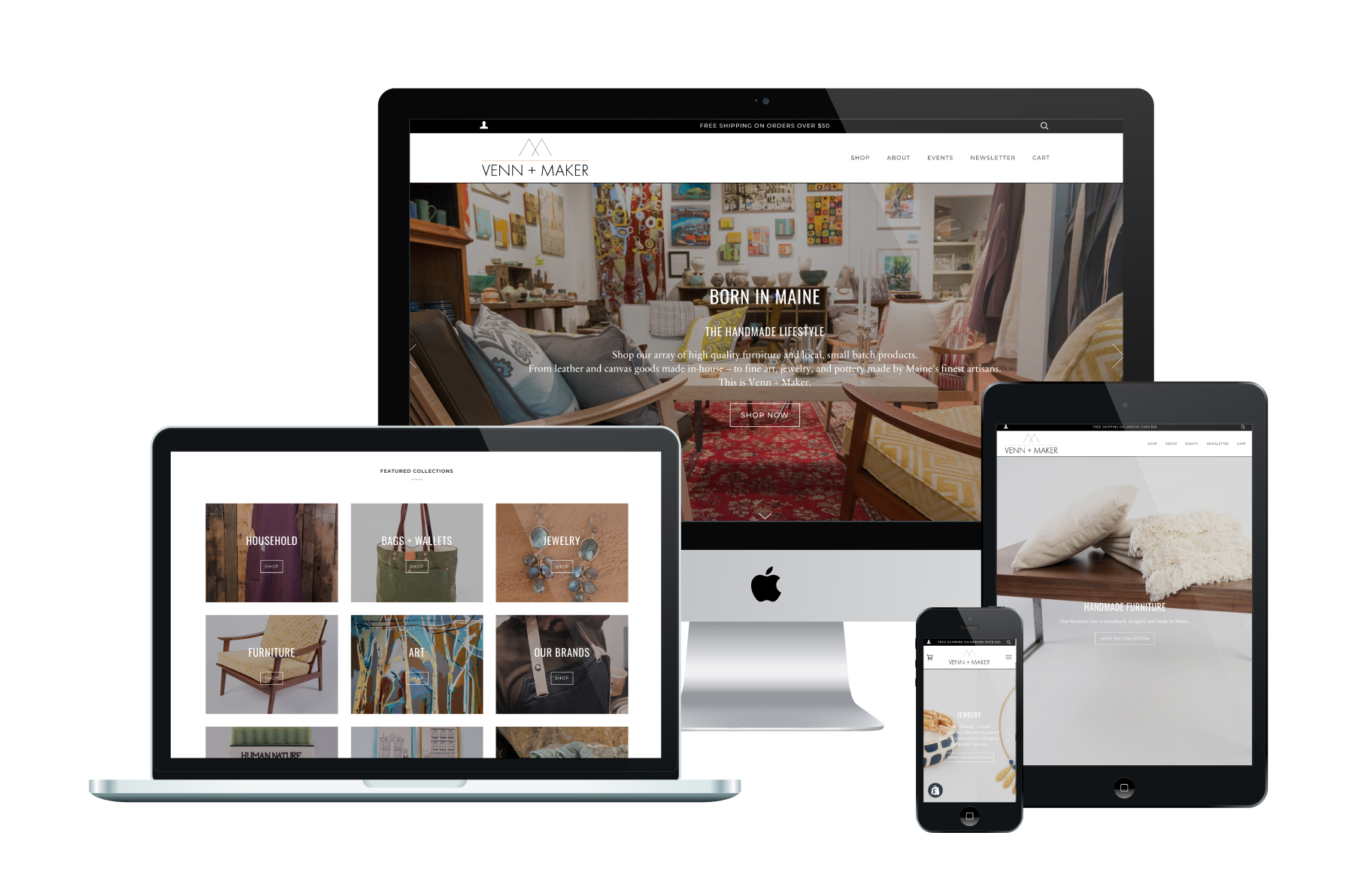 Venn + Maker | Shopify Website Design
